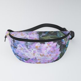 BLESSEDNESS -HYDRANGEA 2- Original abstract floral painting by HSIN LIN / HSIN LIN ART Fanny Pack