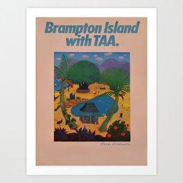 retro plakat Brampton Island voyage poster Art Print
