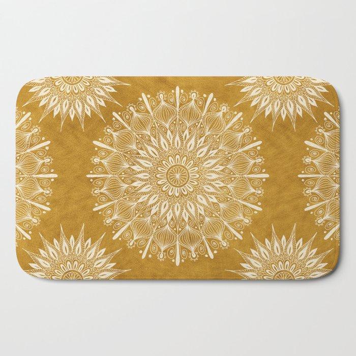 Vintage Mandala on Gold Bath Mat