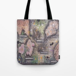Honey Bee canvas collage Tote Bag