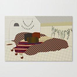 secrets and lies of a room Canvas Print