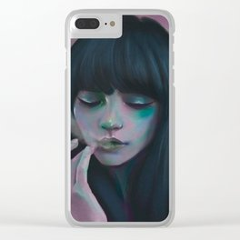 Indie Electro sunset Clear iPhone Case
