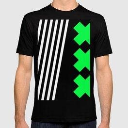 Bold Minimalism 2 (black and neon green) T-shirt