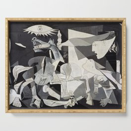 Pablo Picasso Guernica 1937 Artwork Shirt, Art Reproduction for Prints Posters Tshirts Men Women Serving Tray