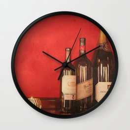 Wine on the Wall Wall Clock