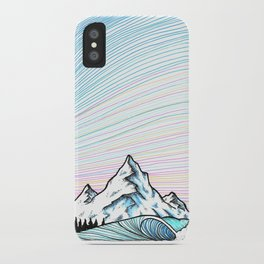 Wave & mountains iPhone Case