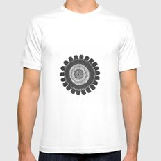 mandala SMALL White Mens Fitted Tee