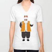 dragonball V-neck T-shirts featuring Grandpa Gohan by JHTY