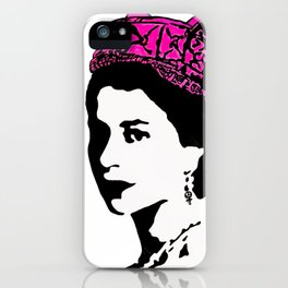 The Queen and the pink pussy hat iPhone Case