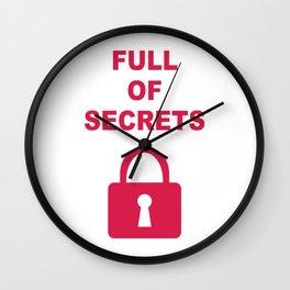 Full of Secrets Lock Wall Clock