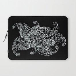 Black and white paisley Laptop Sleeve