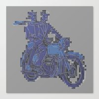 motorbike Canvas Prints featuring Motorbike  by marcusmelton