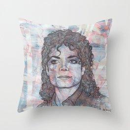 Michael - Black or White Throw Pillow