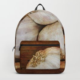 Bunch of garlic heads Backpack