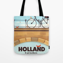 Holland Bicycle travel poster Tote Bag