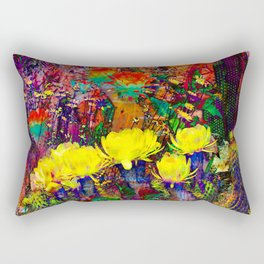 Neon Dessert & Plants Rectangular Pillow