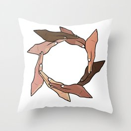 Beauty In Diversity Anti-Racist Gift Throw Pillow