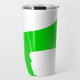 Green Isolated Megaphone Travel Mug