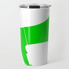 Green Isolated Megaphone Travel Mug