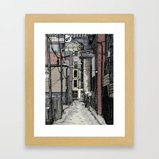 Queen St. West Alley Framed Art Print
