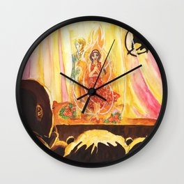Catching Fire Wall Clock