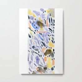 Yellows and purples in watercolor Metal Print