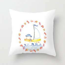 Baby sailor Throw Pillow