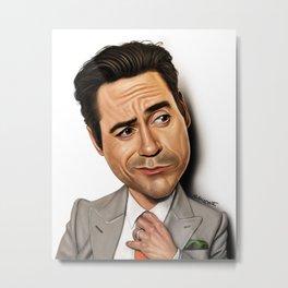Robert Downey Jr Caricature Metal Print