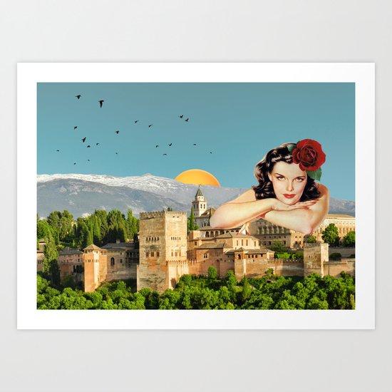 MI ALHAMBRA  Art Print