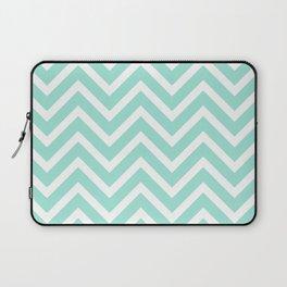 Chevron Stripes : Seafoam Green & White Laptop Sleeve