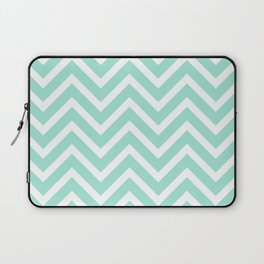 Chevron Stripes : Seafoam Green & White Laptop Sleeve