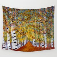 birch Wall Tapestries featuring Birch trees by maggs326