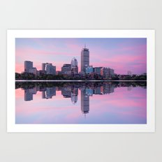 Boston before sunrise Art Print