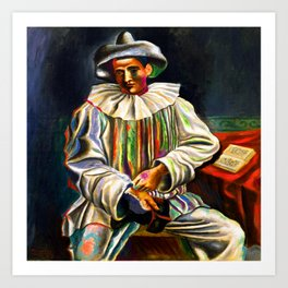 Pablo Picasso Pierrot Art Print