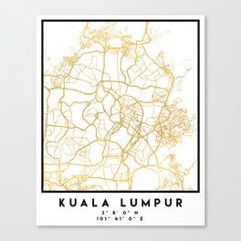 KUALA LUMPUR MALAYSIA CITY STREET MAP ART Canvas Print