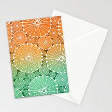Abstract Floral Circles 7 Stationery Cards