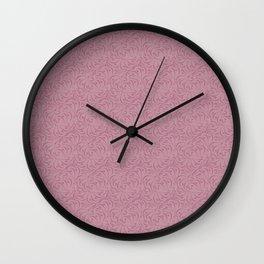 Gentle grey pink pattern . Dusty rose. Wall Clock