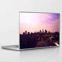 cleveland Laptop & iPad Skins featuring Cleveland Skyline by Toni Tylicki