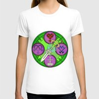 kingdom hearts T-shirts featuring Kingdom Hearts stained glass illustration  by Paul Giovinco