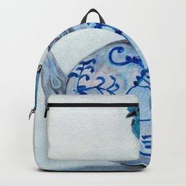 Blue Bird on Teapot Backpack