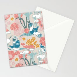 Pheasants and Flowers Stationery Cards
