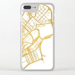 MACAU CHINA CITY STREET MAP ART Clear iPhone Case