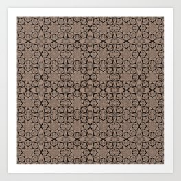 Warm Taupe Geometric Art Print