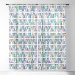 Geometric Glossy Pattern G331 Sheer Curtain