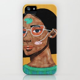 Current fashion girl iPhone Case