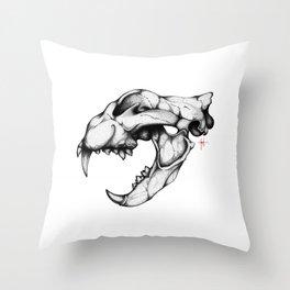 LION SKULL Throw Pillow