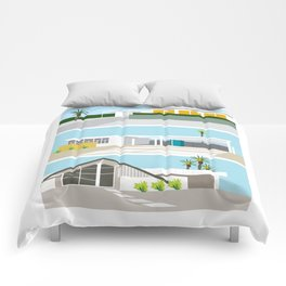 mid-centery house one, three, four Comforters