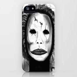 Broken Face iPhone Case