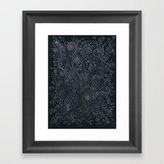 3D ornaments, soft blue Framed Art Print