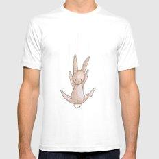 Falling Bunny 3 - Series, Nursery Print MEDIUM White Mens Fitted Tee